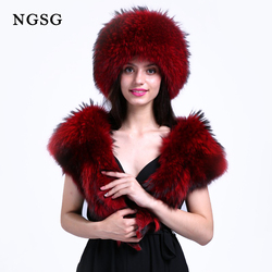 Women's Hat Scarf Set Winter Accessories Three Colors Choice White Jewelry Blue Red Keep Warm High School College ET4030-17