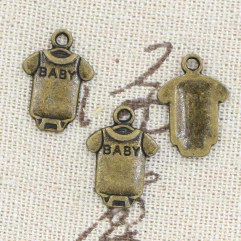 99 Центов 12 шт. Подвески детские onesie комбинезон ткань 17*12 мм Античная Решений кулон, Старинные Тибетские серебро, DIY браслет ожерелье