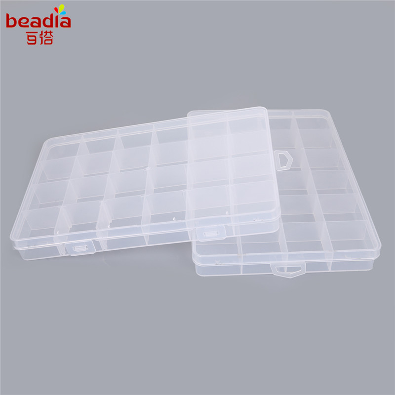 24 Cells Adjustable Jewelry Plastic Storage Box Case Craft Organizer Beads  Container For Designer Jewelry Packaging Display