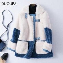 DUOUPA 2019 Autumn and Winter Short Sheep Shearing Fur Coat Female Granule Wool Composite One Fashion Lamb Hair