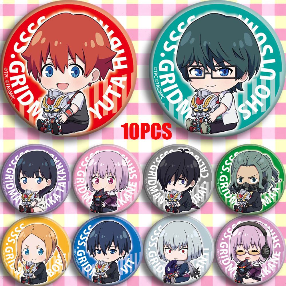 Anime SSSS.GRIDMAN Takarada Rikka Shinjou Akane Cosplay Party Bedge Cartoon Collect Bags Badges For Backpack Button Brooch Pin