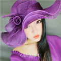 Лето большой краев цветочный Sinamay шляпах для женщин Sunbonnet пляж шляпа женский бесплатная доставка SDDS-012