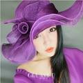 Verano ala grande Floral Sinamay sombreros flexibles para para la playa del Sunbonnet del sombrero femenino del envío libre SDDS-012