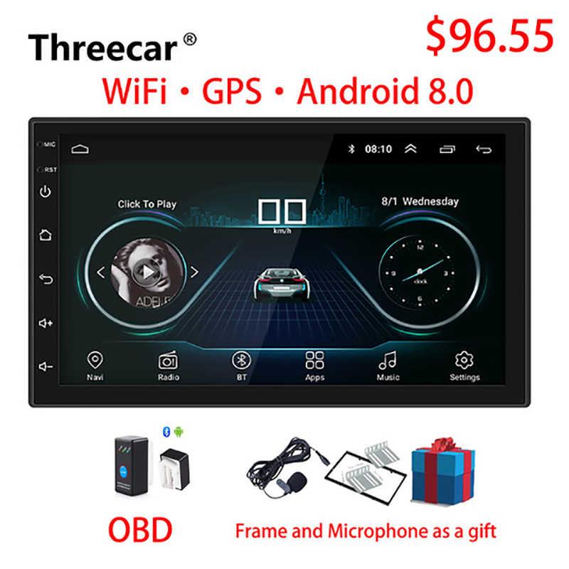 2 ディンカーラジオアンドロイド 8.0 ユニバーサル GPS ナビゲーションの Bluetooth タッチスクリーン無線 Lan カーオーディオステレオの FM USB 車マルチメディア MP5