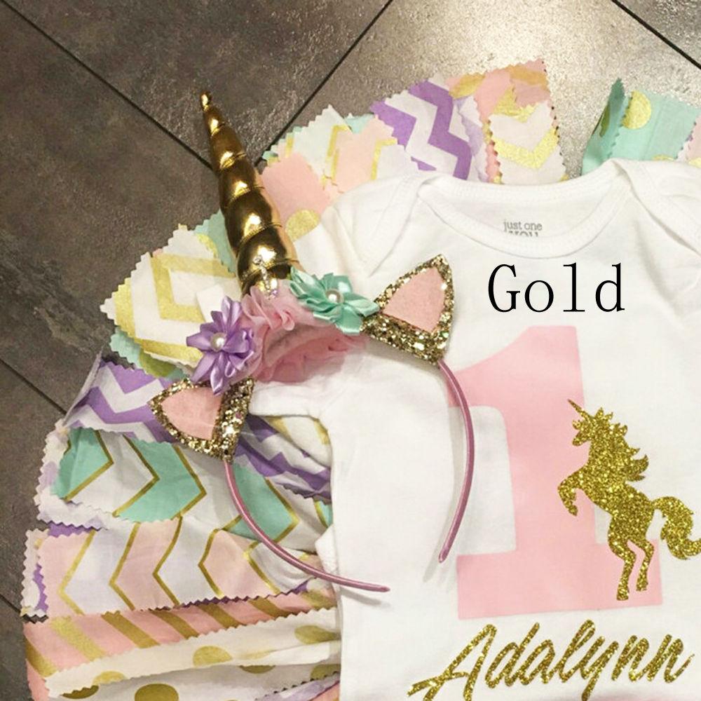 princess Handmade Baby Party Horn Gold Glittery Beautiful Festive Gifts Headband Easter Bonus for DIY Hair Decorative