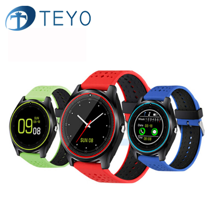 Teyo V9 Bluetooth montre Smart watch Avec Caméra GPS Soutien SIM carte Fitness Tracker Bracelet Dispositifs Portables Smartband Montre-Bracelet