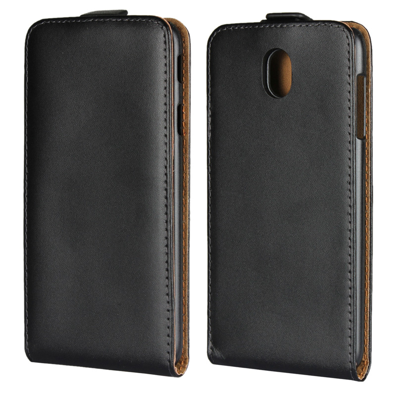 Genuine Leather <font><b>Case</b></font> <font><b>Flip</b></font> Cover Phone <font><b>Flip</b></font> vertical cover bag For <font><b>Samsung</b></font> Galaxy A3 A5 A7 J3 J5 <font><b>J7</b></font> 2015 2016 <font><b>2017</b></font> 2018 Xcover 4 image