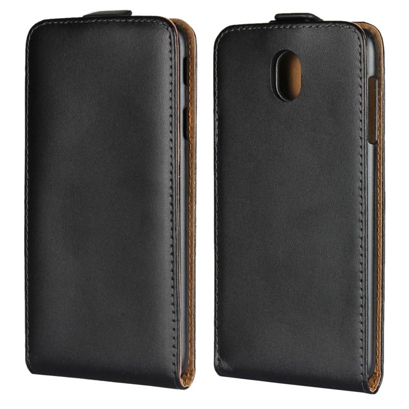 Véritable étui à rabat en cuir Téléphone Flip verticale housse Pour Samsung Galaxy A3 A5 A7 J3 J5 J7 2015 2016 2017 2018 Xcover 4