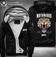 Dropshipping USA Size Men Conor McGregor MMA Notorious Jacket UFC Mouth Cannon Zipper Sweatshirt Jacket Fleece Hoodies Tiger