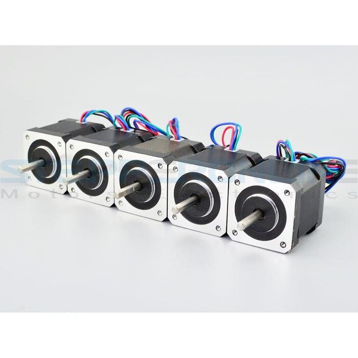 Top Selling 5PCS Nema17 Stepper Motors 1.8 deg High Torque 59Ncm(84oz.in) 2A 42x42x48mm stepping motor for 3D Printer robot cnc top selling 5pcs nema17 stepper motors 1 8 deg high torque 59ncm 84oz in 2a 42x42x48mm stepping motor for 3d printer robot cnc