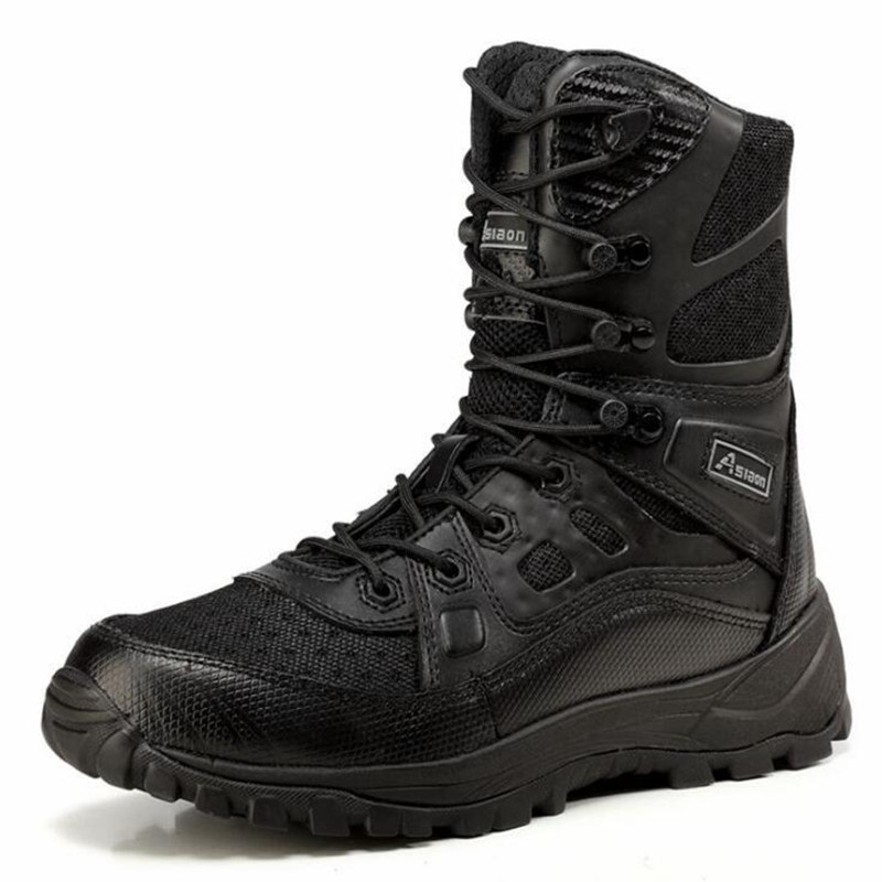Outdoor Tactical Boots Cordura Military Combat Shoes Camping Desert Boots Black Desert Size 39 45
