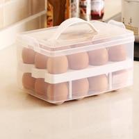 Clear Plastic 24 Grid Bilayer Egg Box Basket Organizer Egg Food Container Storage Box Home kitchen Transparent Case Egg Box