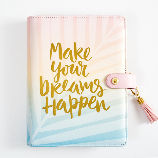 Dokibook Free Shipping Office Supplies Business Planner A5 A6 Agenda Diary  Notebook Wholesale Stationery Gradient Pink