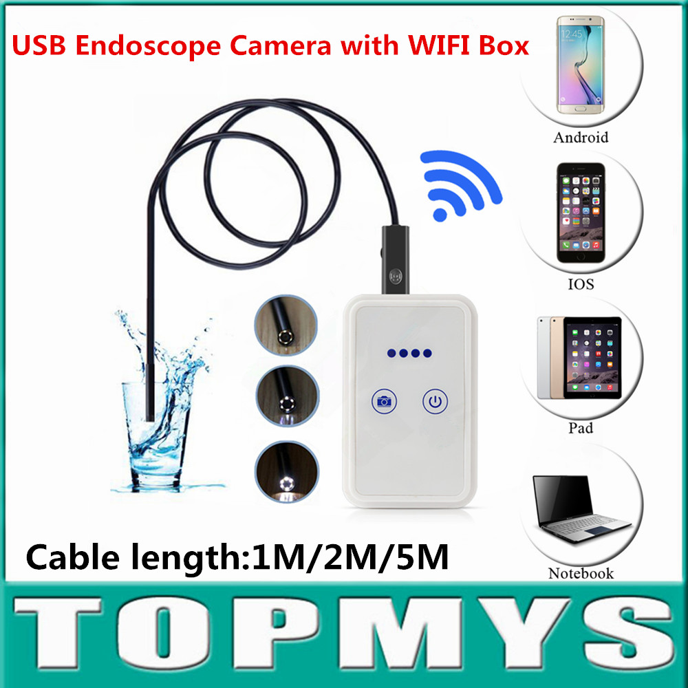 Endoscope usb mini camera with WIFI Box IOS iphone Android endoscope wifi pinhole inspection camera TM-WE9 9mm lens snake camera free shipping 2pcs lot 20m 9mm lens mini camera with wifi box tm we9 android ios for iphone endoscope camera wifi pinhole camera