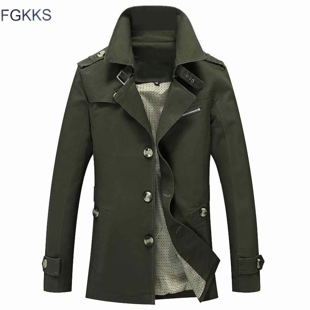 43460cd2231 ... FGKKS Brand Men Jacket Coat Fashion Solid Color Male Jackets Casual  Slim Fit Overcoat Men's Jacket ...