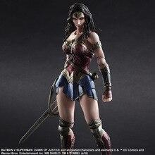 V Superman Batman Wonder Woman Zagraj Arts Kai rysunek 1/6 skala malowane wariant Lalka Anime PCV Figurka Kolekcjonerska Model zabawki