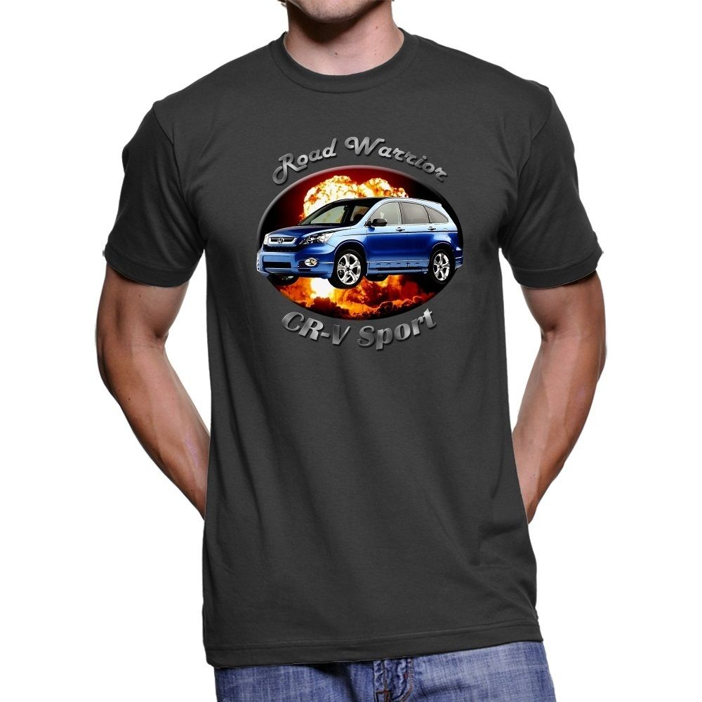 2018 New Summer Tee Shirt Japanese Car CR-V Road Warrior Men`s Dark T-Shirt Cool T-shirt