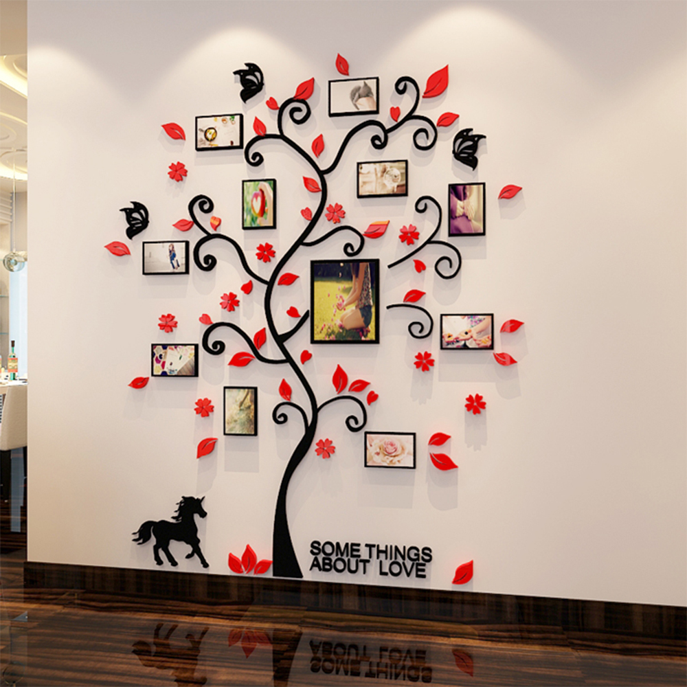 3d Acrylic Family Tree Wall Stickers With Photo Frame Living Room