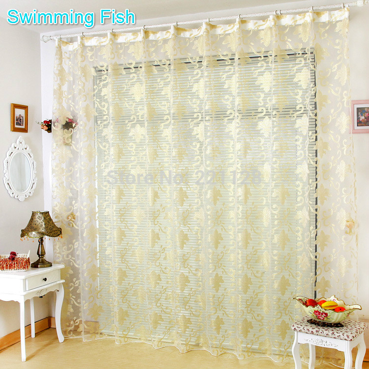 High Grade Sheer curtain,Tulle Panel,Multi Flower Style,Voile Blinds