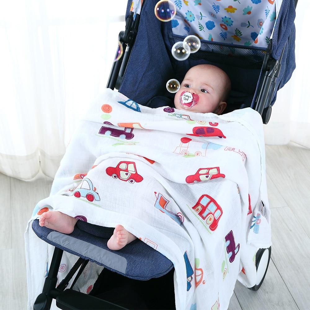 Koc dziecko dla dziecka Super miękka bawełna Bamboo Muślin - Pościel - Zdjęcie 3