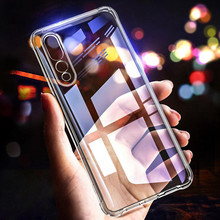 Fashion Shockproof Case For Huawei P20 Pro Transparent Anti-knock Soft TPU silicone Phone Cover Lite Coque