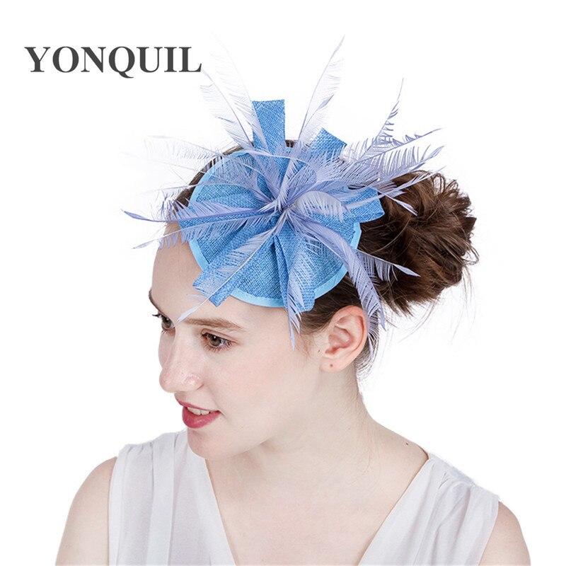 Belle mariée imitation Sinamay Fascinator chapeaux nouveau attrayant événement Occasion chapeau pour Kentucky Derby église mariage fête course
