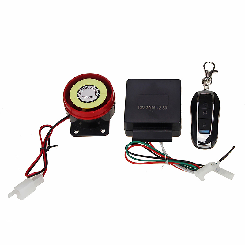 Universal Motorcycle Remote Alarm DC 12V Motorbike Vibration Alarms One Way Wireless Alarma Scooter Anti-theft Security System
