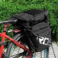 高品質roswheel mtbマウンテンバイクキャリアラックバッグ3で1多機能道路自転車荷物パニエ後部座席トランクバッグ