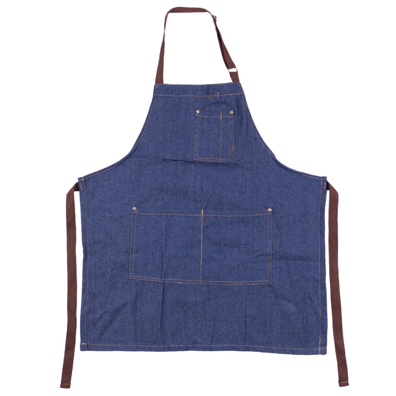 Schorten Cowboy Eenvoudige Antifouling Uniform Unisex Denim Schorten voor Vrouwen mannen Keuken Chef Koken
