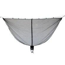 Abnehmbare hängematte moskito net tragbare outdoor Survival nylon verschlüsselung mesh doppel person camping licht gewicht hängematte schaukel
