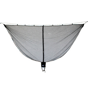 Image 1 - Detachable hammock mosquito net portable outdoor Survival nylon encryption mesh double person camping light weight hammock swing