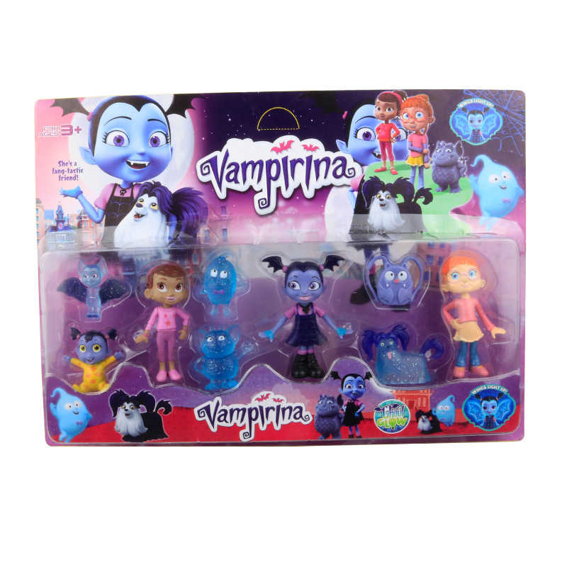 Junior Vampirina Dolls Action Figure Toys The Vamp Girl PVC Character Model Anime Toys For Kids Birthday Party Gift