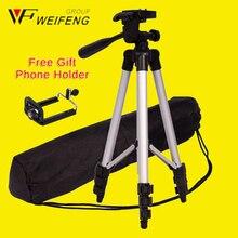 Weifeng wt3110a tripé de câmera profissional para canon eos rebel t2i t3i t4i e para nikon d7100 d90 d3100 dslr