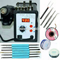 700W 858D ESD Soldering Station LED Digital Solder Iron desoldering station BGA Rework Solder Station Hot Air Gun