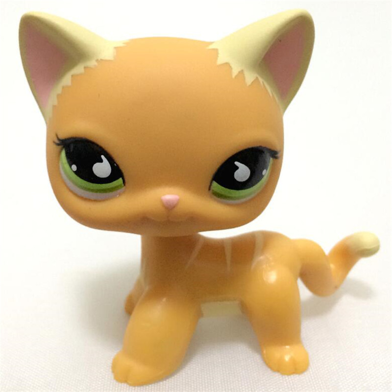 Lps pet shop toys Standing short hair cat Yellow 3573 Black 336 2249 Dog Collie Great Dane dachshund toys pet shop toys great dane 2598 green eyes pink dog dane child loose cute puppy