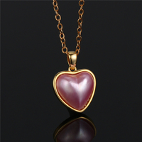Pink Romantic Love Heart Pearl Necklaces Gold/Silver Big Mabe Pearl Necklaces Original Real Sea Water Pearl Necklaces For Women