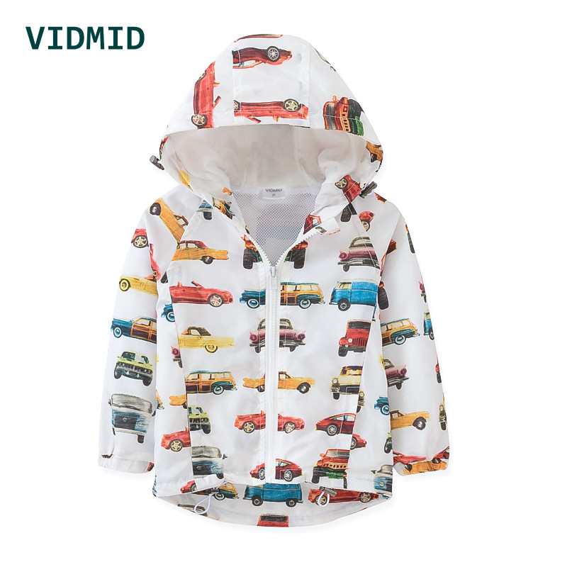 VIDMID Boys jackets Spring Autumn Hooded  Car Baby Boys Outerwear Coats Children Jackets For Boys 2-8Y Kid Windbreaker Clothes
