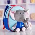 Прекрасный Слон Смешной Мультфильм Школа Рюкзак, детский зоопарк плюшевых животных мешок подвесные игрушки