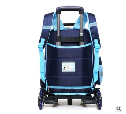 Bagaj ve Çantalar'ten Okul Çantaları'de 3D erkek arabası Çantası okul çocukları için Haddeleme Çanta tekerlekler çocuk Seyahat Çantası 6 tekerlekler okul Arabası Sırt Çantası'da  Grup 3