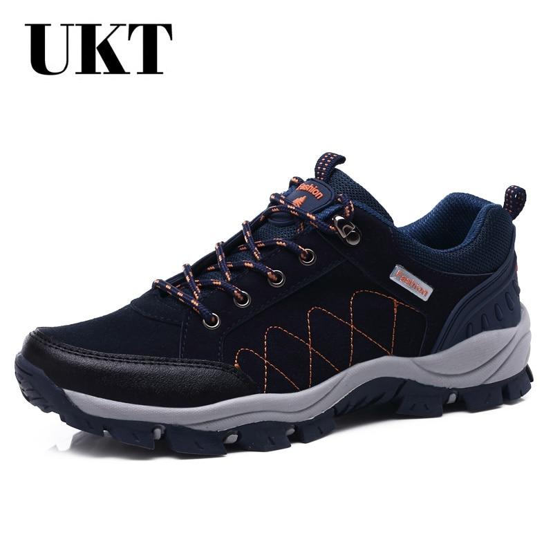 Лидер продаж, зимняя походная обувь для мужчин, дышащая, уличная, кожаная, для трекинга, на шнуровке, кроссовки, брендовые, для альпинизма, Не...