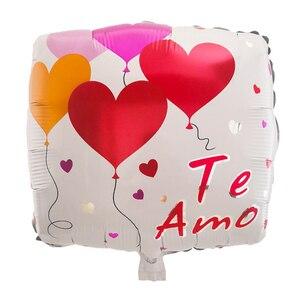 Image 2 - 10ピース/ロット18インチスペインte amo箔風船母の日ハート形ヘリウム空気グロボスの装飾のバレンタイン日用品baloes