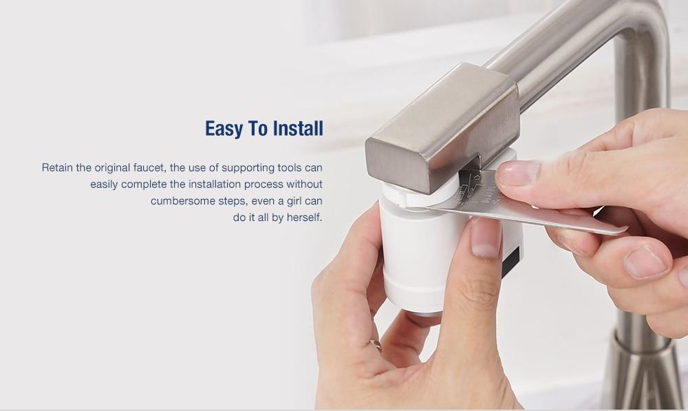 Индукционная водонагреватель Интеллектуальный Инфракрасный Индукционная вода кран анти-переполнение поворотная головка вода
