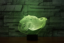 Cartoon Motorcycle Acrylic 3D Vihicle Optical Illusion Night Light, 7 Colors LED Home Decoration for  Kids Gift