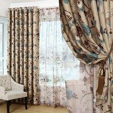 Moda Impreso Blackout Cortinas Para la Sala de Sala de estar de Lujo Floral Cortina de Ventana Para la Ventana del Dormitorio de Tratamiento/cortinas