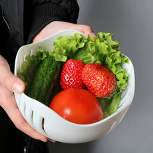 60 Second Salad Cutter Bowl Easy Salad Fruit Vegetable Washer And Cutter Quick Salad Maker Chopper With Retail Box