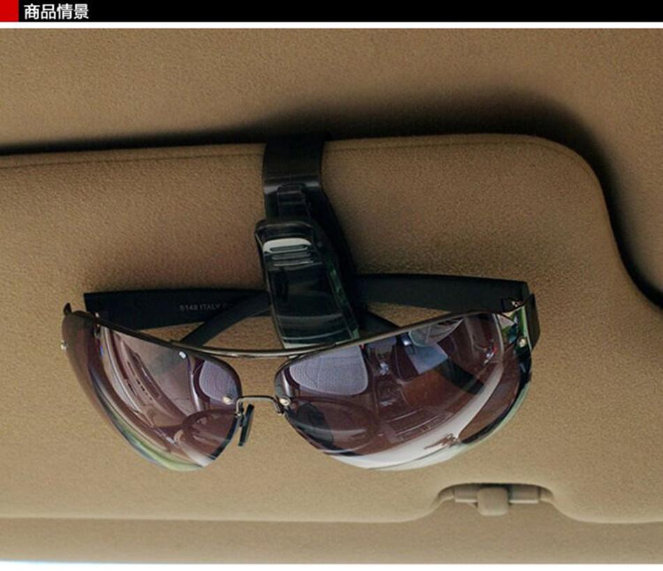 HTB1PHhjXfOzK1Rjt jJq6xFsVXaW - Hot Sale Auto Fastener Cip Auto Accessories ABS Car Vehicle Sun Visor Sunglasses Eyeglasses Glasses Holder Ticket Clip for cruze