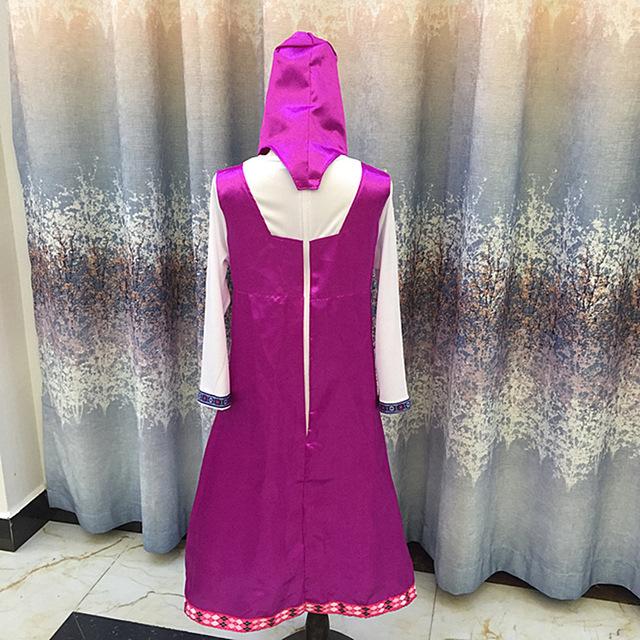 Roupa da traje roupas para crianças masha masha eo urso y el oso cosplay decoração do partido das crianças do vestido extravagante anime onesie