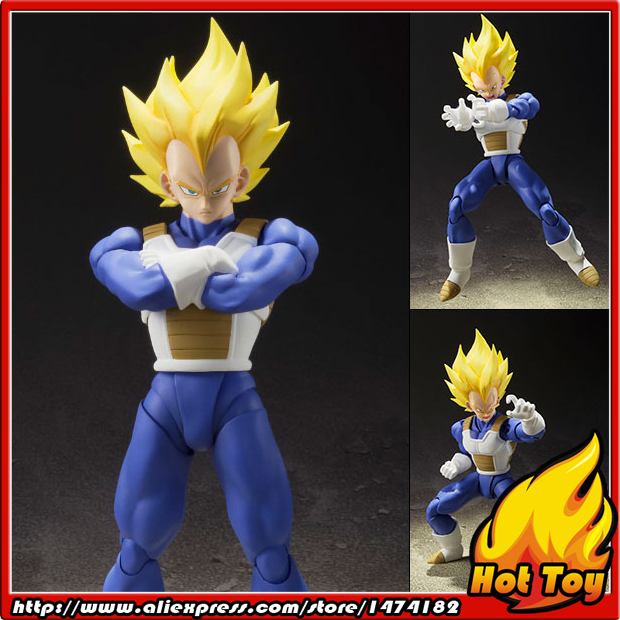 100% Original BANDAI Tamashii Nations S.H.Figuarts (SHF) Action Figure - Super Saiyan Vegeta from