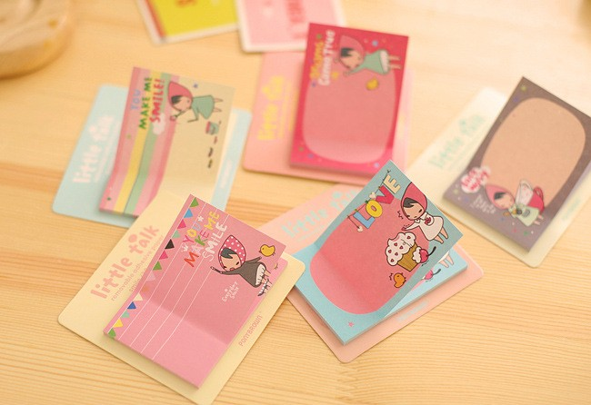4pcs Cartoon Memo Pad Cute Post It Sticky Note Post-it Sticker Office Stationery Planner Notepad Kawaii Notebook Scrapbook
