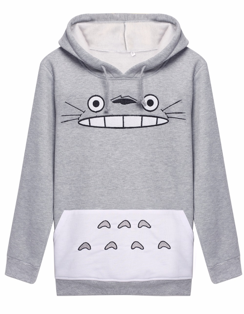 2018 New Arrival Cosplay Totoro Harajuku Outside Clothes Tail Zip Hoodie Hoody Sweatshirt  Costume For Man and Woman